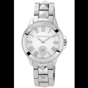 Vince Camuto silver pyramid stud watch